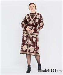 【OUTLET】パネルジャガードスカート
