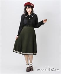 【OUTLET】ラインデザインニットスカート【Web価格】