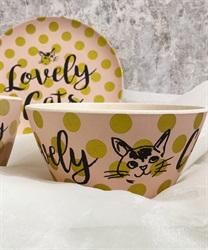 Lovely Cats バンブーファイバーボウルA