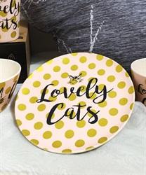 Lovely Cats バンブーファイバープレートA