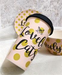 Lovely Cats バンブーファイバーコーヒーカップA