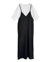 Tシャツsetコンビネゾン(黒-M)