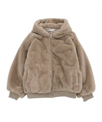 【OUTLET】フード付きファーコート