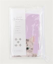 猫柄ひんやりUVストール(ピンク-M)