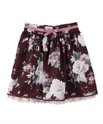 【OUTLET】【Web限定】(キッズ)アンティーク花柄スカート(ワイン-S)
