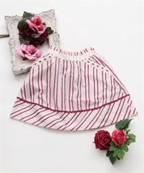 【OUTLET】(キッズ)マルチストライプ切替スカート
