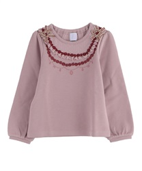 【OUTLET】【Web限定】(キッズ)ネックレス風レース使いプルオーバー