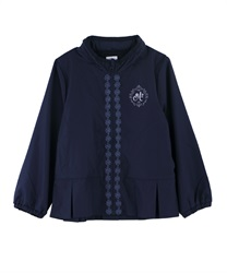 【OUTLET】【Web限定】(キッズ)裾プリーツフェミニンパーカー(紺-S)
