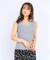 【OUTLET】レース付タンクトップ