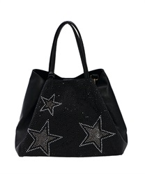 【OUTLET】【Web限定】スタッズトートバッグ(黒-M)