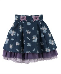 【OUTLET】【Web限定】(キッズ)バックティアード花柄スカート