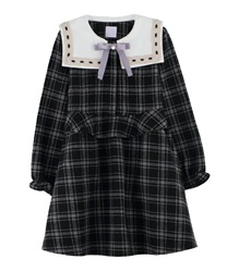 【OUTLET】【Web限定】(キッズ)チェック柄セーラーワンピース