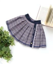 【OUTLET】(キッズ)刺繍入りチェック柄スカパン