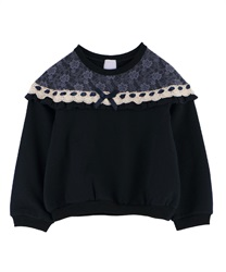 【OUTLET】【Web限定】(キッズ)裏シャギーガーリートレーナー(紺-S)