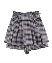 【OUTLET】【Web限定】レースアップキュロット(紺-M)