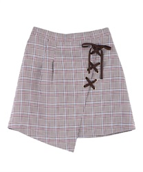 【OUTLET】【Web限定】レースアップスカパン(茶-M)