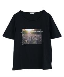 【OUTLET】【Web価格】フラワーフォトTシャツ