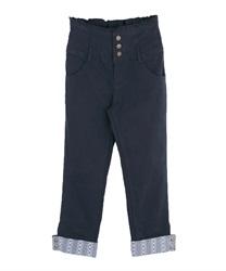カフスデザインカラーパンツ(紺-M)
