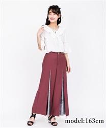 【OUTLET】スカーフ切替ワイドパンツ