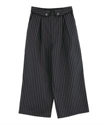 襟デザインセンタージップPT(紺-M)