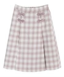 チャイナ釦切り替えスカート(ラベンダー-M)