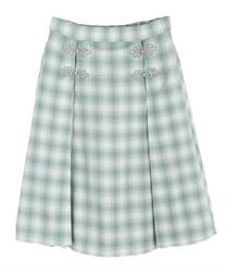 チャイナ釦切り替えスカート(ミント-M)