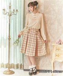□チャイナ釦切り替えスカート