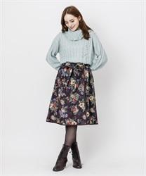 【OUTLET】ゴブラン風PTミドルスカート