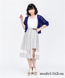 【OUTLET】【Web価格】スリットデザインプリーツスカート