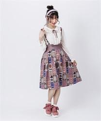 ショコラトリーサス付スカート(濃ピンク-M)