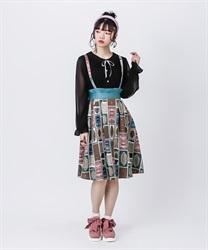 ショコラトリーサス付スカート(グリーン-M)