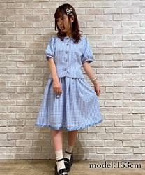 コードデザインフレアスカート