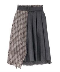 【OUTLET】【Web価格】フェイクレザースカート