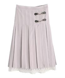 【2点5000円対象 /WEB限定】ビットデザインプリーツスカート(ラベンダー-M)