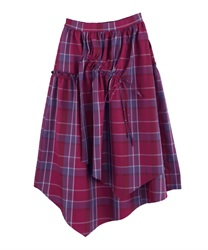 【OUTLET】【Web価格】マドラスチェックドロストスカート