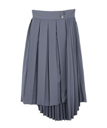 【OUTLET】【Web価格】ダブルプリーツアシメスカート