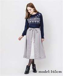 【OUTLET】【Web価格】スノー刺繍スカート【Web限定商品】