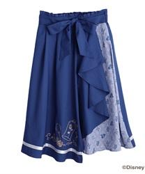 【二次予約】【美女と野獣】フリルスカート(ブルー-M)