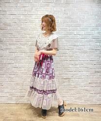 【予約】フルーツアート柄スカート
