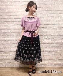 ローズガーデン刺繍スカート