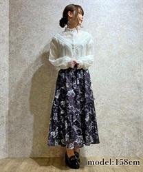 □【GWフェア/10%OFF対象】星座柄サイドレースアップスカート