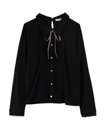【OUTLET】【Web限定】ブラウス風カットプル(黒-M)