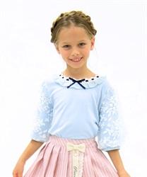 【OUTLET】(キッズ)オーガンジー刺繍袖プルオーバー