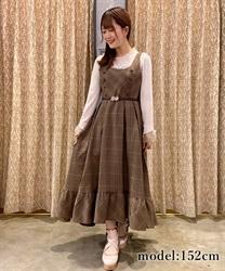 【10%OFF対象】W釦フィッシュテールジャンパースカート