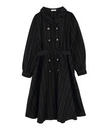 テーラー襟ナポレオンワンピース(黒-M)