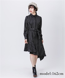 【OUTLET】アシメシャツワンピース