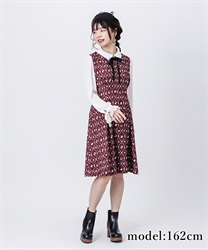 【OUTLET】【Web価格】ゴブラン風プリントワンピース