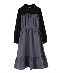 【OUTLET】【Web限定】プチハイドッキングワンピース(紺-M)