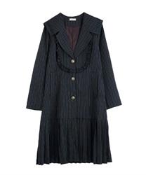 【OUTLET】セーラーロングジャケット(紺-M)