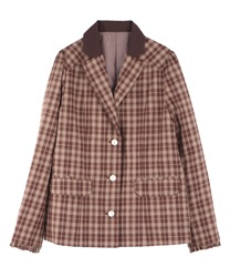 【OUTLET】タータンチェックジャケット【Web価格】
